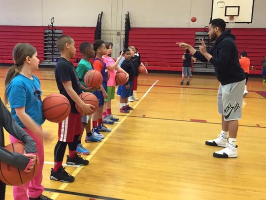 "Unit Director Antonio Benford coaches kids during Spring Break basketball camp at the Boys & Girls Club of Muncie in 2016. The ""Yes! I Can!"" program will have similar fitness games, starting Monday, Feb. 10, 2020."