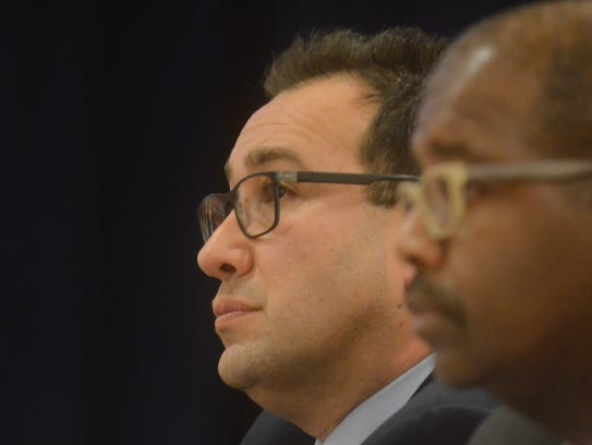 Englewood Superintendent Robert Kravitz, left, and