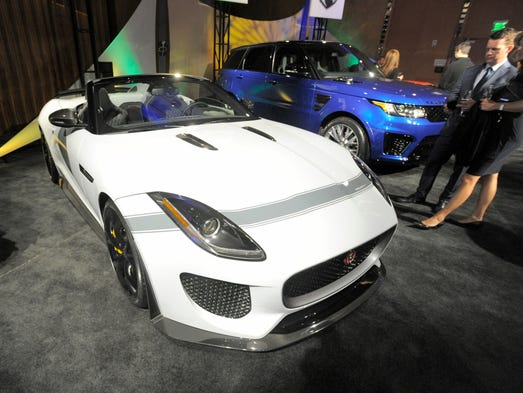 The Jaguar F-Type Project 7 on display Saturday Jan.