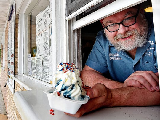 Don Reeser Jr. of the family-owned Reeser's Soft Ice Cream