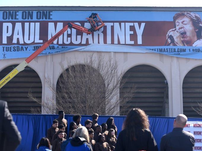 Paul McCartney comes to Hersheypark Stadium Tuesday,