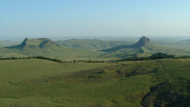 Montana Fish, Wildlife and Parks is seeking public comment on a proposal to purchase a conservation easement to protect Rumney  Cattle Co. property 13 miles northwest of Cascade. Birdtail Butte is shown on the right.
