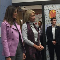 Melania Trump talks inclusion, poses for selfies at West Bloomfield school