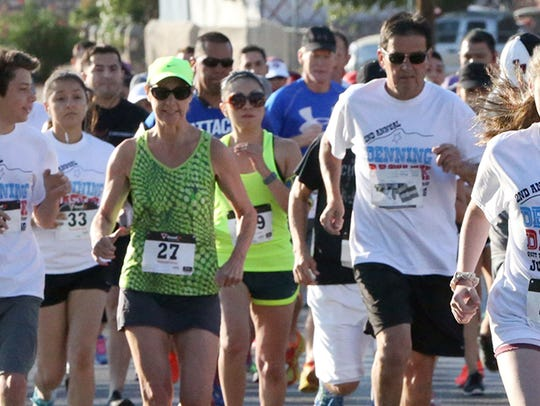 About 200 runners took part in the second Denning Dash