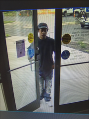 Police released this image of a suspect in a credit union robbery this afternoon in Delta Township.