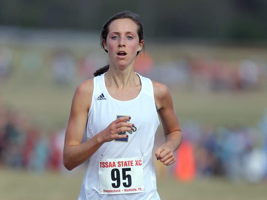 Addi Coggins of Independence finishes fourth during