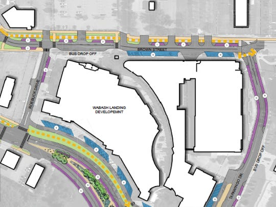This is the parking scheme planned near Wabash Landing