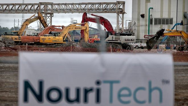 Investors broke ground Wednesday on a $600 million-plus animal food manufacturing plant they say will create up to 160 jobs and take a shot at ending world hunger. The NouriTech plant will repurpose a 37-acre swath of Presidents Island, where part of Cargill's corn milling operation closed in 2015.