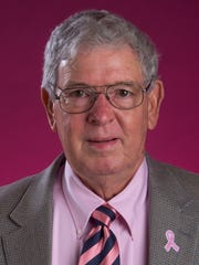 Frank Lamar with the Autauga County Relay for Life Men in Pink fundraiser is shown in Montgomery, Ala. on Tuesday October 11, 2016.