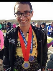 Andre Fuqua, an avid runner and Flour Bluff High School