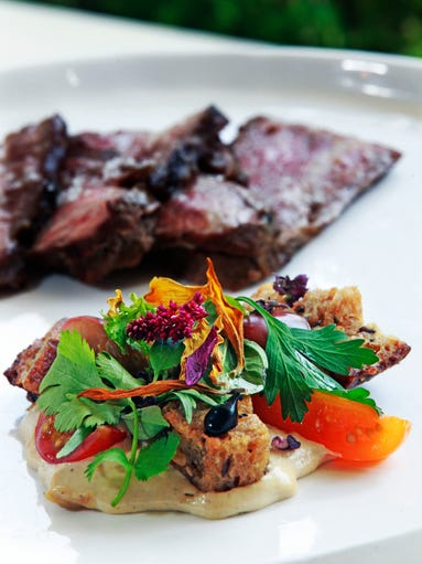Beef, Tomato Panzanella dish prepared by Chef Justin