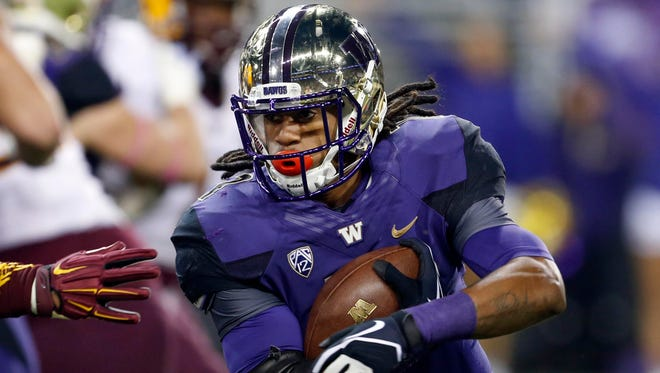 Washington LB Shaq Thompson also played some running back for the Huskies.