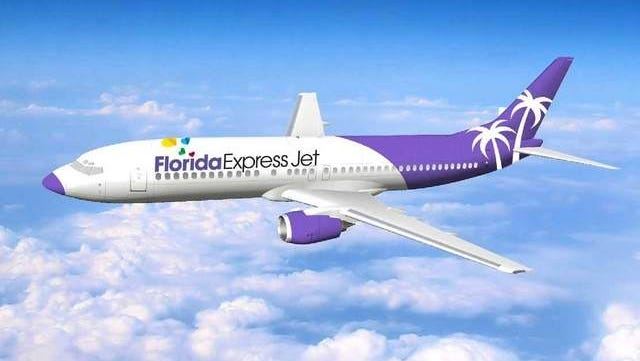 Florida Express Jet's leased aircraft will be painted like this illustration, according to the company.