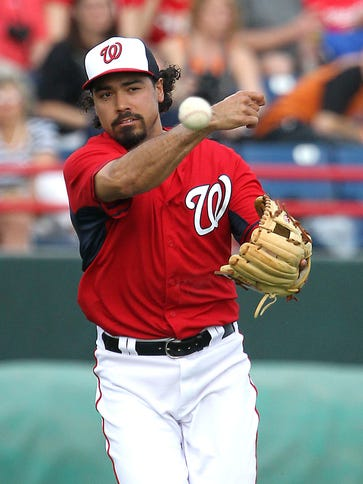 Anthony Rendon was hurt March 9 diving for a ball in