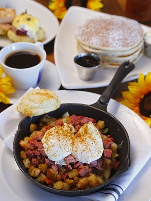 Corned beef hash from The Hash Kitchen Monday, Nov. 30, 2015 in Scottsdale, Ariz.