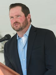 Wholesome Family Farms owner Jay Hill speaks on Monday, January 23, 2017, at an event in Berino, New Mexico announcing investments totaling more than $18 million in public and private money which is expected to create more than 100 new jobs