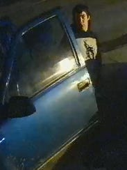 A still image of a man sought by police in the investigation