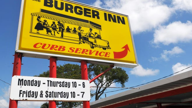 """The Burger Inn on Harbor City Blvd. (U.S.#1, just north of Aurora Road, Melbourne. It is currently owned by Al Urezzio, also known as """"Grumpy Al"""" , and he has the popular place up for sale."""