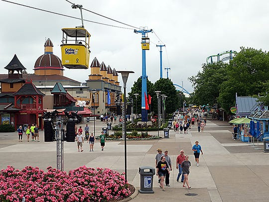 Cedar Point amusement park, in Sandusky, is pictured on June 18, 2013.
