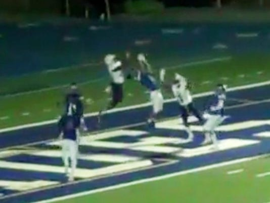 Chad Johnson Jr. had a game-winning catch for Venice against Palisades (Photo: Hudl screen shot)