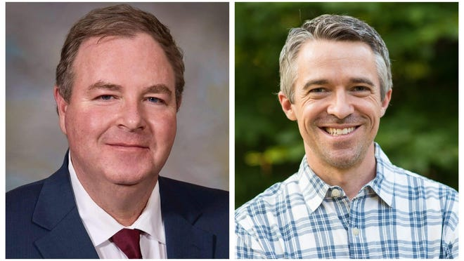 Former Republican state Sen. William Gannon, left, is facing incumbent Democratic Sent. Jon Morgan in a rematch of their 2018 race for state Senate District 23.
