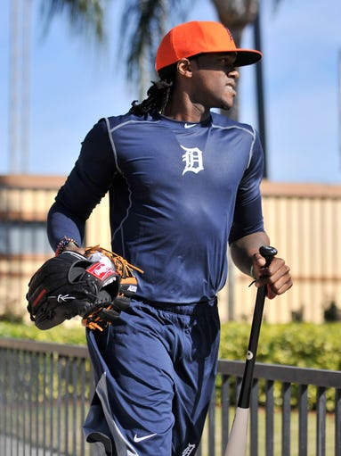 Outfielder Cameron Maybin heads out to Detroit Tigers