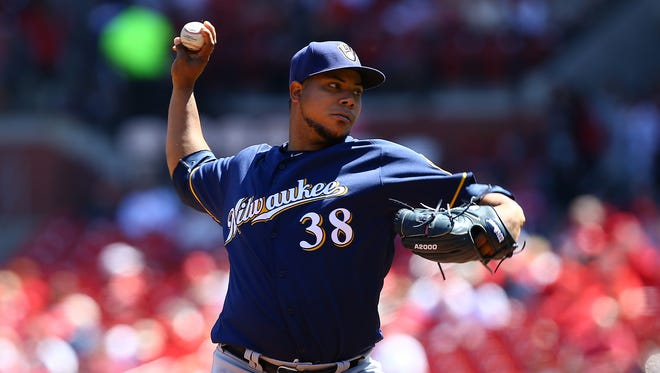 Brewers starting pitcher Wily Peralta