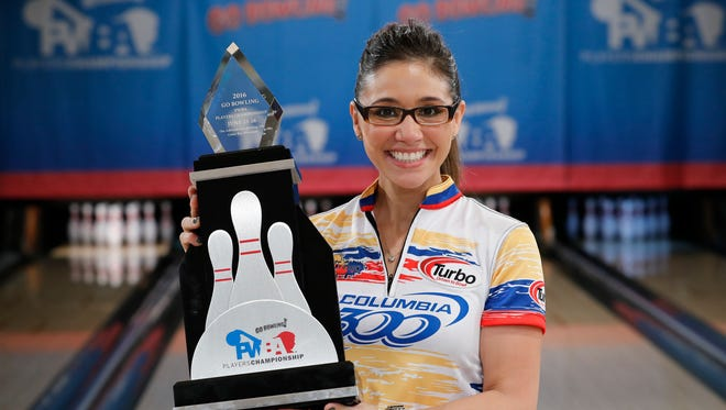 Clara Guerrero won the Go Bowling Professional Women's Bowling Association Players Championship on Sunday at The Ashwaubenon Bowling Alley. It was the Colombia native's first PWBA title.