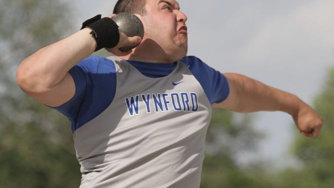Wynford's Seth Hoffman said one of the most memorable experiences from his high school career came a week ago when he won the district shot put title with a personal-best throw of 54-6.75.