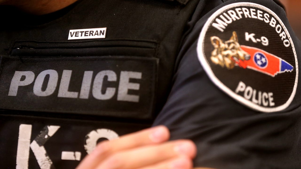 The Murfreesboro Police Department issued military veteran pins to officers that have military experience to better connect to veterans in the community.