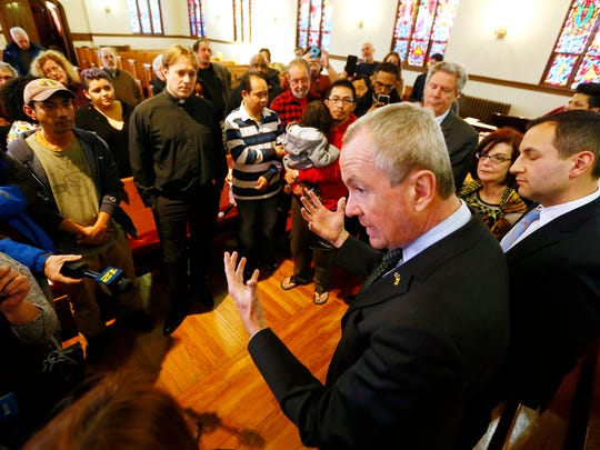 New Jersey Governor Phil Murphy at the Highland Park