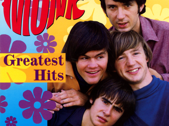 "The cover to the 1995 edition of The Monkees' ""Greatest Hits."""