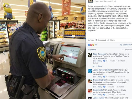 The Asheville Police Department uses Facebook to connect with citizens. They share stories about their officers, crime prevention tips, awareness about crimes, and ask the community for tips.