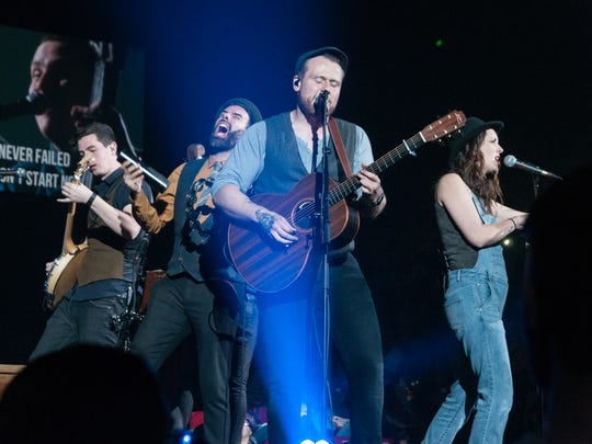 Rend Collective, a Northern Irish Christian experimental, folk rock, worship band, performs during the Rock & Worship Roadshow in March at the Pan American Center.