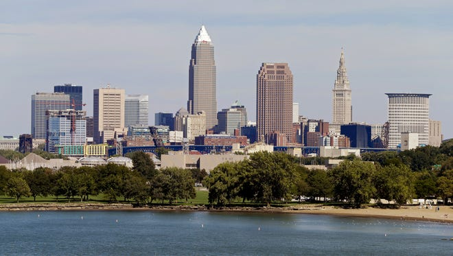 This 2012 file photo shows the Cleveland skyline taken from Edgewater Park.