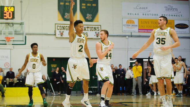 Vermont's Trae Bell-Haynes was named the America East men's basketball player of the year on Thursday. The senior guard also won the honor last year.