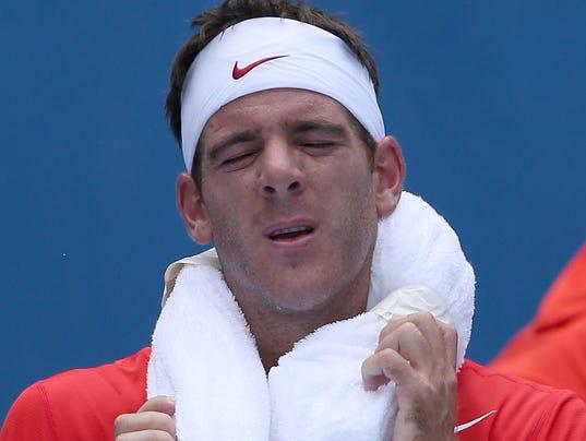 2014-01-14 Australian Open heat Del Potro
