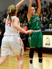 Margaretta's Kennedi Hilton scored to tie Thursday's game against Bellevue late in the third quarter and again in the fourth.