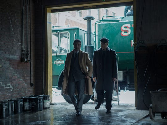 "Oscar Isaac (left) and Albert Brooks star in the film ""A Most Violent Year."""