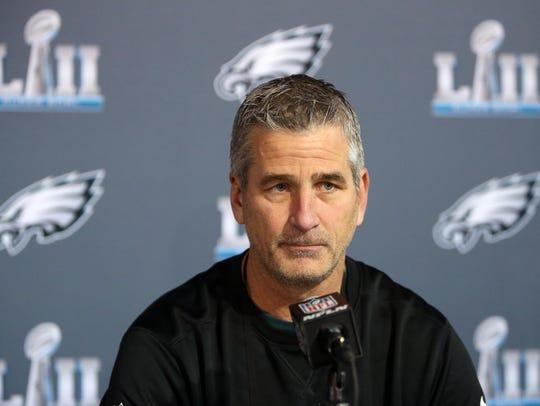 Philadelphia Eagles offensive coordinator Frank Reich
