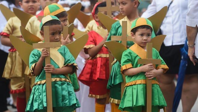 The Santa Marian Kamalen procession was held in Hagåtña in on Dec. 8, 2017.
