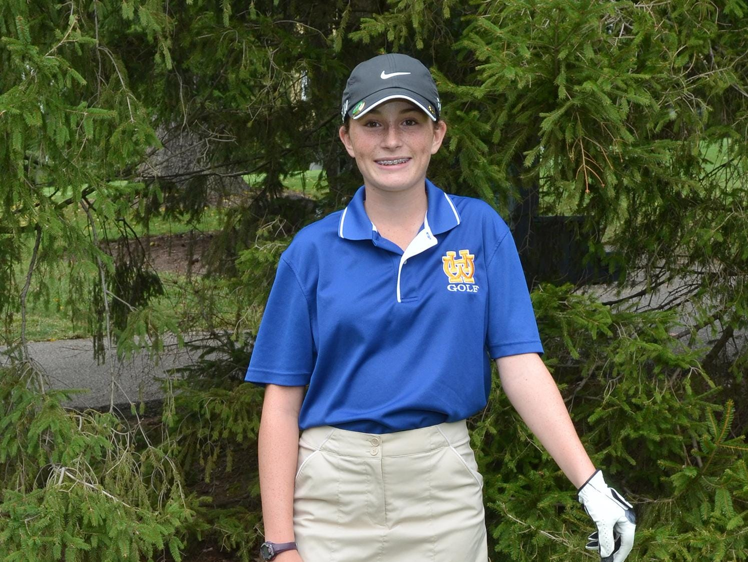 Because of numbers, Katie Hallinan had to compete on the Walnut Hills boys golf team last fall before playing individually in girls postseason matches. Hallinan had the lowest average of all of the Eagles. Hallinan is a resident of Loveland.