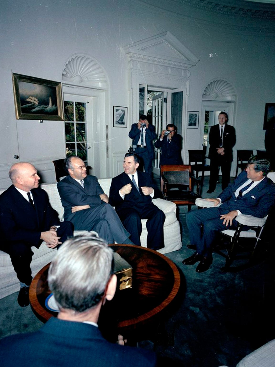 White House Secret Service agent Frank Yeager stands