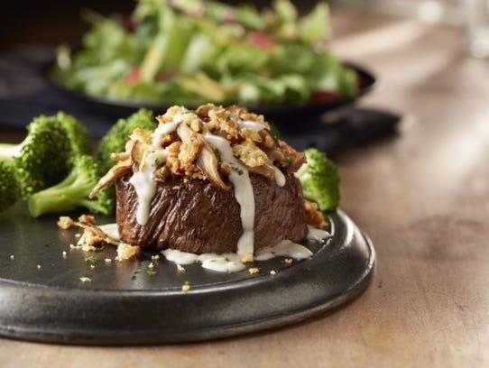 Shiitake Mushroom Crusted Filet at LongHorn Steakhouse