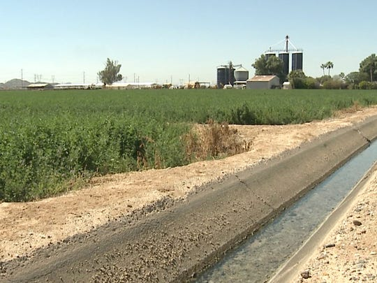 Photo of irrigation ditch