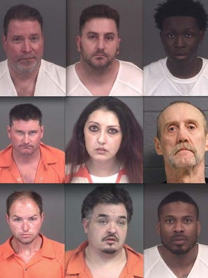 Top row, from left: Jeffrey Lefebvre, Jonathan Rushton and Diamonta Lucas. Middle: Michael Thompson, Nicole Garcia and Michael Ray Brown. Bottom: Jason Lockwood, Roger Conway and Sherman Springer.