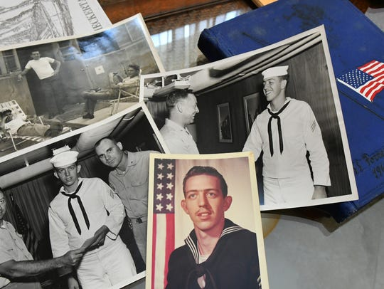 Photos of Bill Solt during his years in the U.S. Navy.
