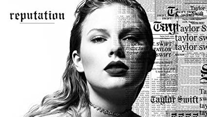 "Cover of Taylor Swift's latest album: """"Reputation."""
