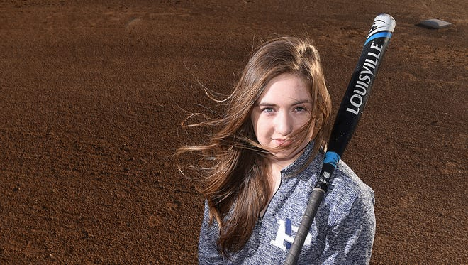 Livia Hensley, a senior third baseman for the Piedra Vista softball team, was diagnosed with type 1 diabetes when she was 8 years old.