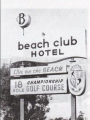 A photo of the old Naples Beach Hotel & Golf Club sign that stood on U.S. 41.
